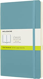 Caderno Clássico, Moleskine, Sem Pauta, Azul Coral, Grande