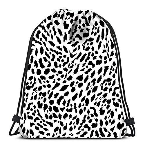 HFXY Drawstring Rucksack Taschen Bild des Schädels mit Äxten und Speeren Tattoo-Stil in Farbe Falten Cinch Bag Taschen