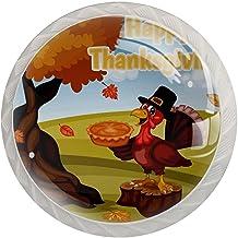 Lade handgrepen trekken ronde kristallen glazen kast knoppen keuken kast handvat,Turkije in pelgrim hoed taart boom bladeren