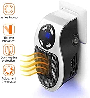 AKQ Space Heater Office Under Desk Quiet Portable Electric Heater with Remote Control and LED Screen