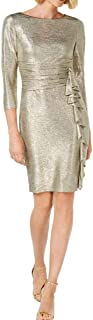 Jessica Howard Women's 3/4 Sleeve Ruched Waist Sheath Dress