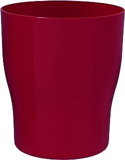 Creative Bath Products GEM54RED Gem Plastic Waste Basket, Red