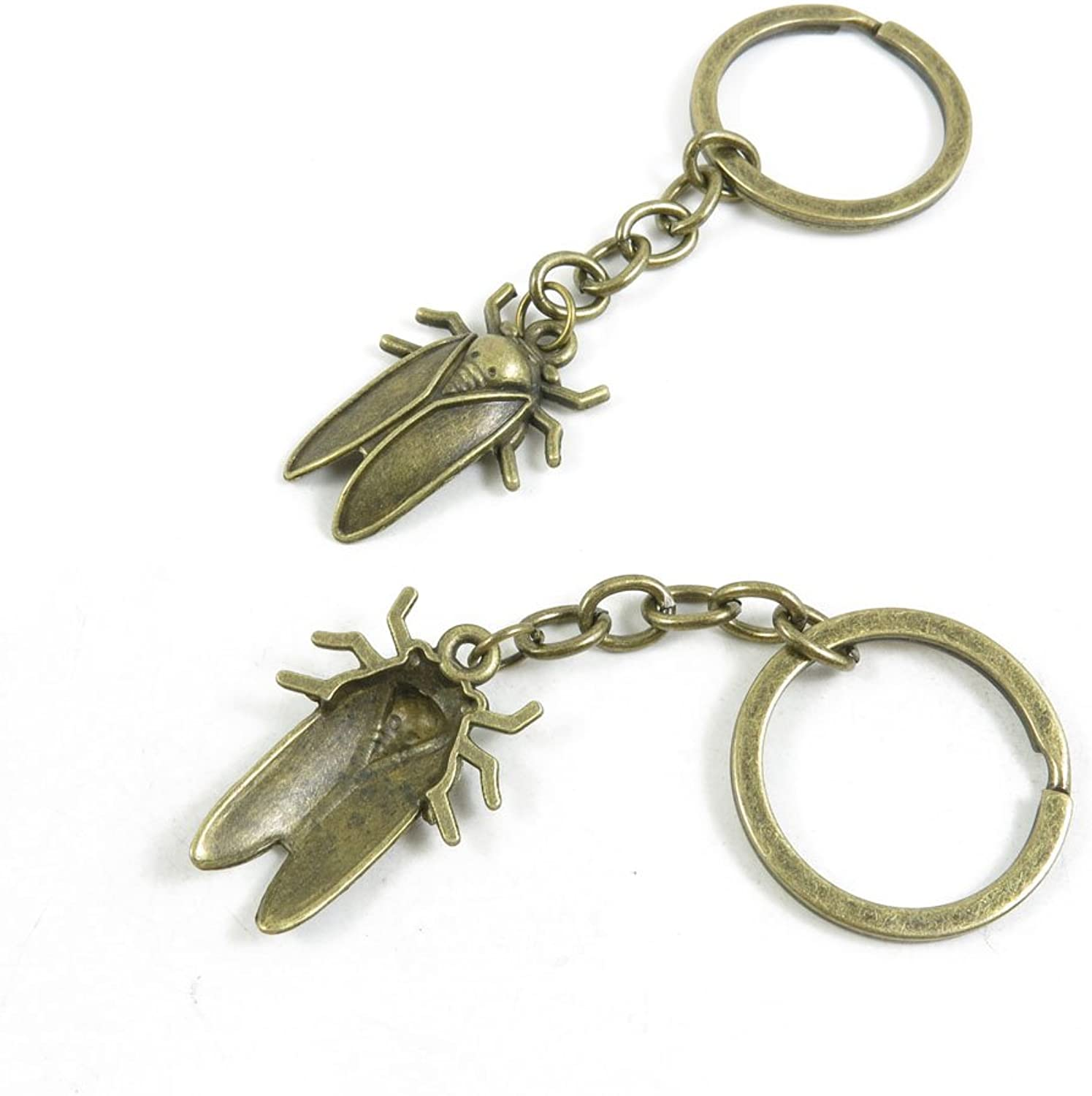 210 Pieces Fashion Jewelry Keyring Keychain Door Car Key Tag Ring Chain Supplier Supply Wholesale Bulk Lots O6RE1 Cockroach Cicada Cicadidae