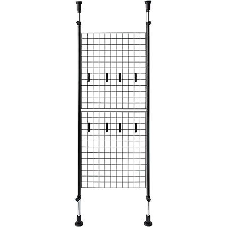 宮武製作所 パーテーション Lugado 幅64×奥行き7×高さ168~288cm ブラック 天井突っ張り SK-640 BK