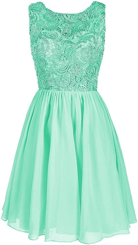 CladiyaDress Women Jewel Neck Short Bridesmaid Dress Evening Gown C106LF
