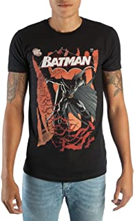 Classic Batman DC Comic Book Cover Artwork Men's Black Graphic Print Boxed Cotton T-Shirt