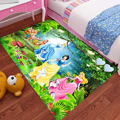 Alfombra Sala De Estar Colchoneta Para Niños Dormitorios Infantiles Interior Niñas Niño Área De Cabecera Dibujos Animados Antideslizante Grande Encantadora Princesa Anime Decoración Para El Hogar