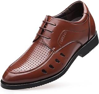 [Aisxle] ビジネスシューズ カジュアル シークレット メンズ 革靴 レースアップ 通気性 快適