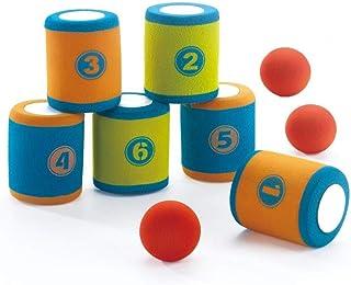 Spiel AG Jeu de lancer pour enfants - 6 boîtes en mousse et 3 balles en anglais