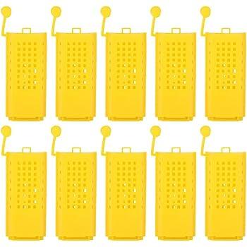 FRFJY Apicoltura Strumenti Ape Cremagliera Secchio Clip Supporto Plastica Miele Secchio Supporto Lampeggiante Miele Macchina Barile Mensola Giallo