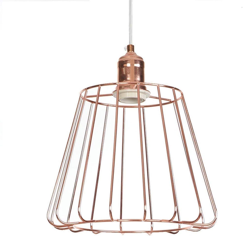 LEWWB RotGold Deckenlampe, Wohnzimmer Kronleuchter Zimmer Dekoration Hngeleuchte Einfaches Schmiedeeisen Deckenleuchte Hohe Qualitt Pendelleuchte