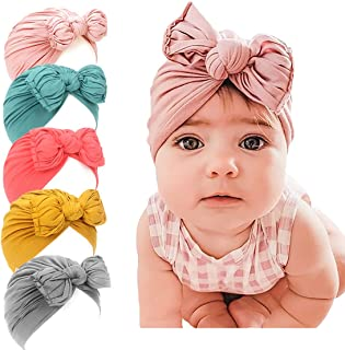 LHTHZHY Baby Girl Hat,Turban Hats for Infant Toddlers Girls, Baby Turban Hats with Bow Cap