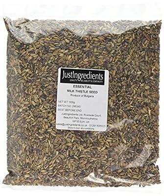 JustIngredients Essential Milk Thistle Seeds 500 g (Pack of 2)