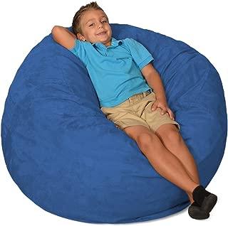 Comfy Sacks 3 ft Memory Foam Bean Bag Chair, Royal Blue Micro Suede