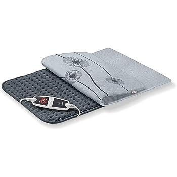Coussin chauffant Beurer HK 125, format XXL, avec 6 réglages de température, arrêt automatique et interrupteur à LED, lavable en machine, gris