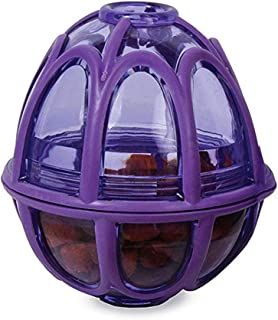 Kibble Nibble Feeder Ball Interactive Meal Dispensing Dog Toy for Medium and Large Dogs,Purple