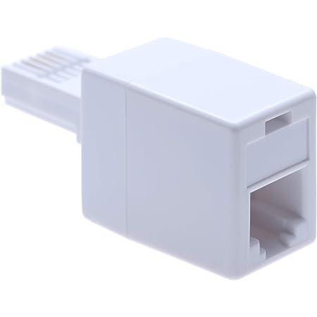 CDL Micro RJ11 Plug BT Socket Adaptor for USA//Irish Telephone,White