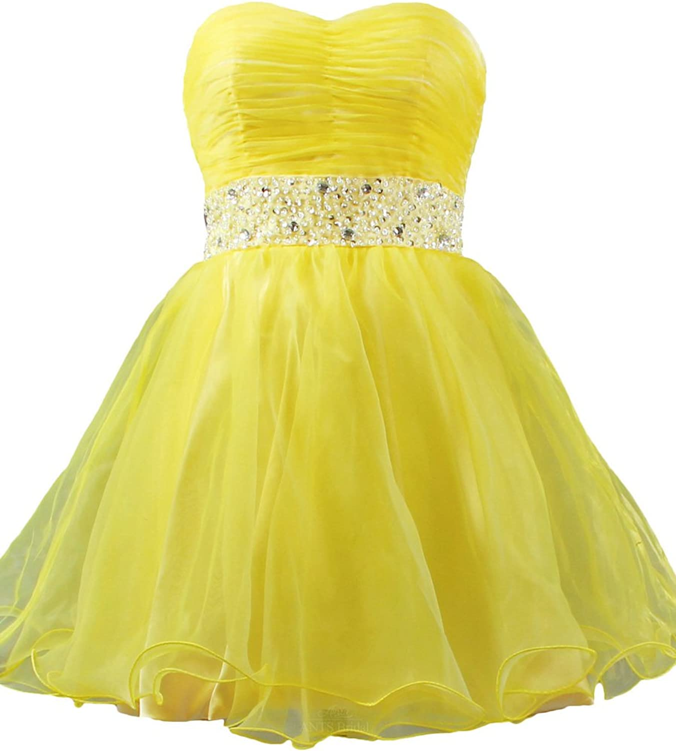 ANTS 50's Mini Short Prom Cocktail Homecoming Dresses with Beaded Belt