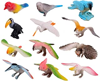 HOMNIVE Birds Figures - 12pcs Realistic Looking Animals Toys Set - Simulated Plastic Animal Models Toys Artificial Birds Figures Kids Educational Toys for Boys Girls Kids Toddlers
