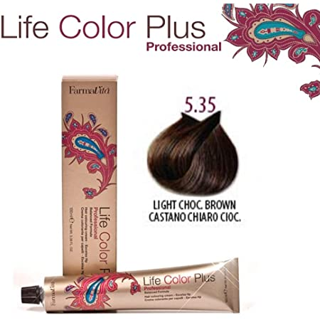Farmavita Life Color Plus, Tinte 5.35 Castaño Claro Chocolate - 100 ml
