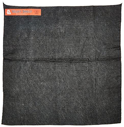 """Steiner 316-18X18 Velvet Shield 16-Ounce Black Carbonized Fiber Welding Blanket, 18"""" x 18"""""""