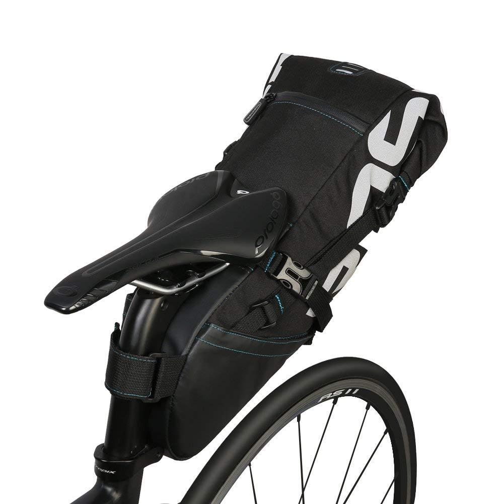 Bolsa de Sillín de Bicicleta Poliéster Resistente Bicicleta Asiento Trasero Bolsas con Arnés Asiento Bolsa de Transporte Bicicleta Bolsa 10L: Amazon.es: Deportes y aire libre