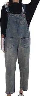 (ニカ)レディース サロペット デニム ワイドパンツ レディース 春 秋 冬 ロングパンツ サロペット 大きいサイズ 体型カバー
