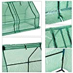 Outsunny 9' l x 3' w x 3' h portable tunnel greenhouse outdoor garden mini hot house with large zipper doors, water/uv… 16 ✅protect plants from the elements: bring all of your plants together in a unified and protected space with our garden greenhouse. Having everything in one place means our plant nursery helps you manage and grow your plants, fruits, vegetables, and flowers all year round. ✅updated design with 3 large doors: the 3 side doors of our plant nursery can be completely opened and rolled up with ties, thereby making a larger space & creating better ventilation. ✅let and keep the good stuff in: this small hot house features a pe mesh grid cover that is sun and water fighting to help protect plants while allowing nourishing sunlight to pass through. Furthermore, the cover helps retain heat during colder months.