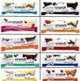 Power Crunch Original Protein Bars, Variety Pack. (Bast Variety Pack of all 10 Flavors, 20 bars)