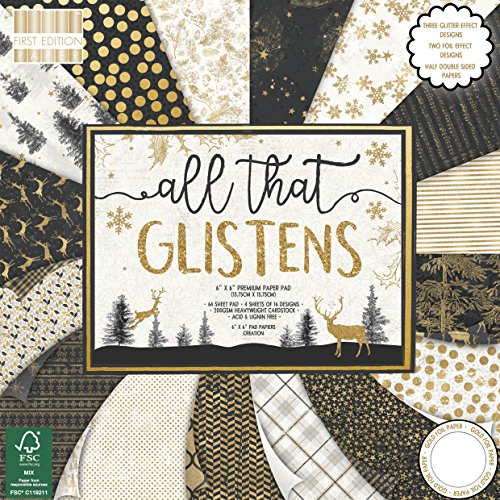 First Edition Weihnachten, Mehrfarbig, First Edition Christmas - All That Glisterns Premium Paper Pad 6