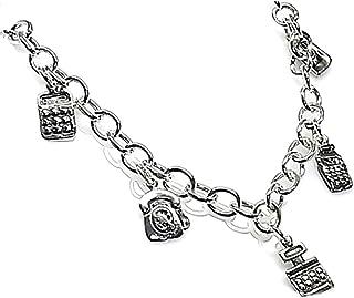Silver Bracelet 19cm Law Office 925M Fetishes. [Ab3617]