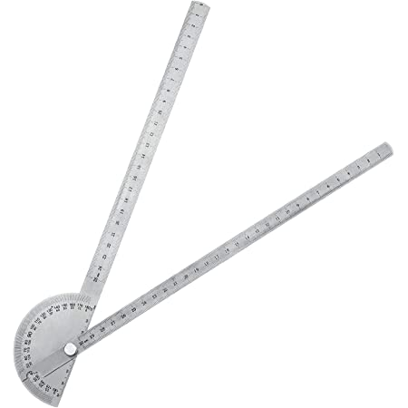 Woodworkers Edge Ruler Angle Protractor Finder Two Arm Woodworking Measure Tool