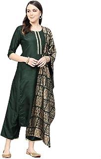 LIBAS Women Kurti with Palazzo Set   Ladies Top Kurta Kameez Salwar Suit Bottom Pant   Ethnic Indian Pakistani Party Dress...