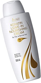Vitamins Keratin Leave In Conditioner Moisturizer - Thin to Normal Hair Care Moisturizing Hydrating Detangler Cream for Dry Damaged Hair