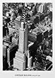 Vintage Cityscape Photo Poster USA 'Chrysler Building, New York, 1935' - Black and White Wall Art Office Decor Print (16x22 inches)