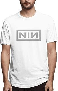N-I-N Logo Band Fan Men Custom T-Shirt L White