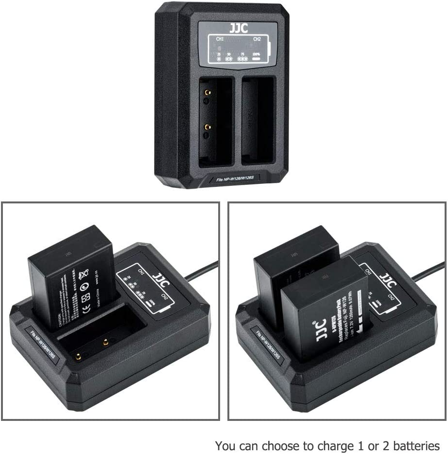 Jjc Usb Dual Charger Battery Charger For Panasonic G100 Camera Photo