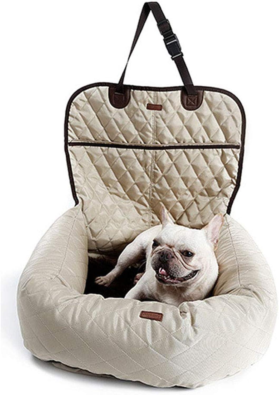 CHEN. Pet car seat cover  car mat dog car mat kennel rear seat padded waterproof pet supplies,Beige