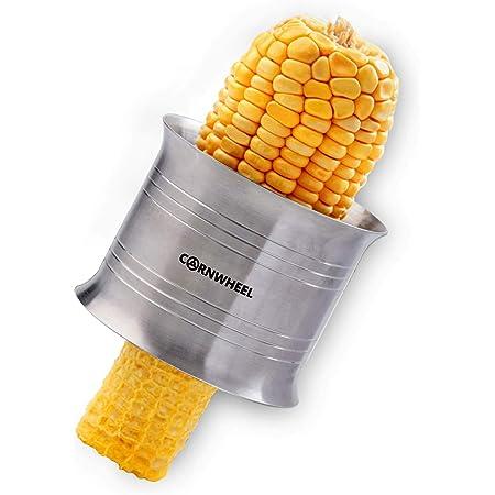 Cornwheel Cob Corn Stripper, Better Quality Stainless Steel Corn Peeler Corn Cutter, Safer Corn Thresher Corn Remover Tool for Home&Kitchen