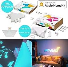 nanoleaf Aurora & Rhythm Starter Kit LED RGBW Farbwechsel-Panel und Sound-Modul 30er Set | App-Steuerung | 16 Millionen Fa...