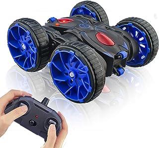 Voiture Télécommandée, 4WD Stunt Car à 360° Rotation Maniable, 2.4GHz Radiocommandé Crawlers à LED, 1:28 Course Véhicule à...