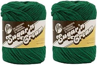 Lily Sugar 'n Cream 100% Cotton Yarn - 2.5 Oz Medium Gauge (2-Pack) (Dark Pine)