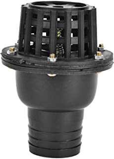 "Pompvoetklep, waterpompvoetklep Zwart PVC lage druk platte terugslagklep Bodemklep voor vloeistofmachine(2"")"