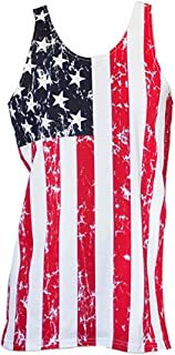 USA Patriotic American Flag Men's Stars And Stripes Tank Top Shirt