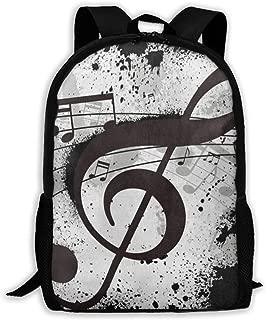 Backpack Old Vintage Music Note Zipper School Bookbag Daypack Travel Rucksack Gym Bag For Man Women