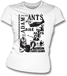 Adam And The Ants Punk Poster Girl's Slim-Fit T-shirt, Color White