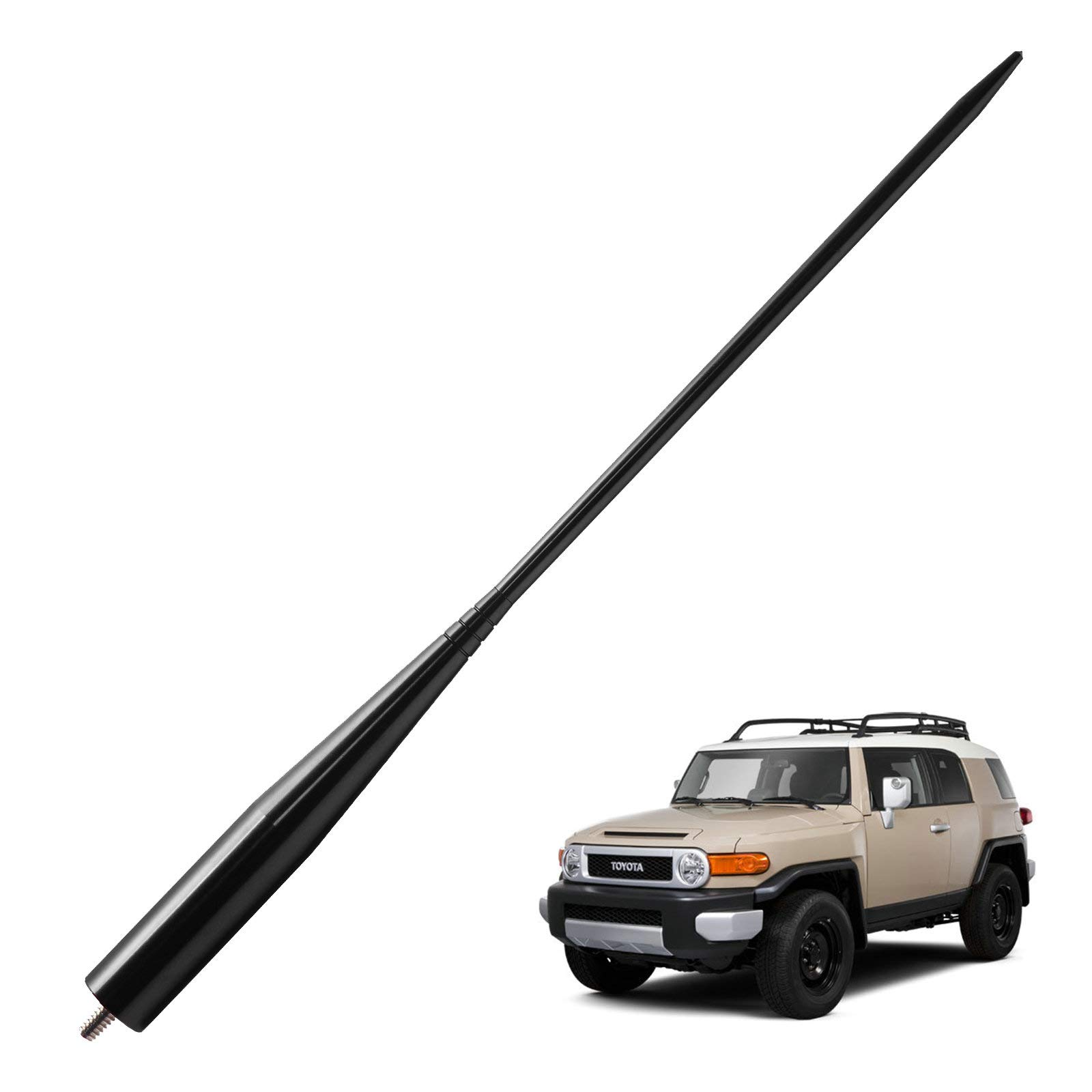 Black 13 inches JAPower Replacement Antenna Compatible with Toyota FJ Cruiser 2007-2014