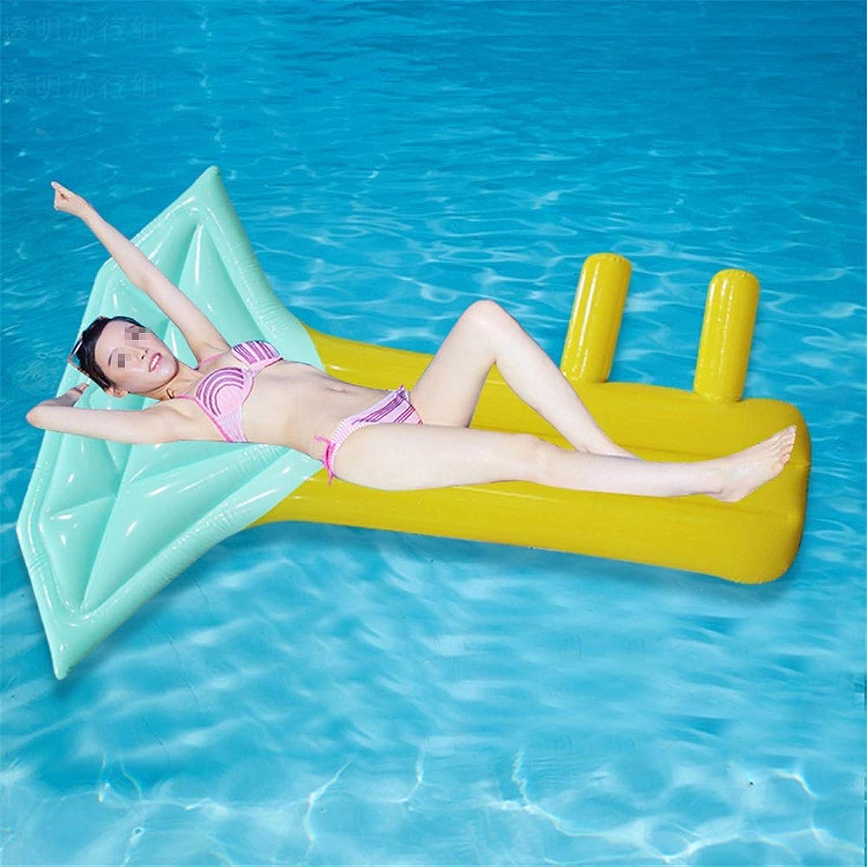 buen precio ChenBing-swi Balsa Flotante Inflable para Piscina Balsa Balsa Balsa de salón Inflable Flotante for Nadar en la Piscina (1 Paquete) Juguete de Agua Flotante para la diversión (Color   Azul, tamaño   Free Talla)  venta caliente