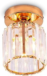Éclairage de plafond en cristal Mini lustre moderne plafonnier luminaire suspendu en cristal pour cuisine île salle à mang...