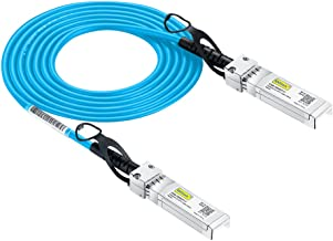 [Blue Cable] 10G SFP+ DAC Cable - 10GBASE-CU Passive Direct Attach Copper Twinax SFP Cable for Cisco SFP-H10GB-CU1M, Ubiquiti, D-Link, Supermicro, Netgear, Mikrotik, ZTE Devices, 1m